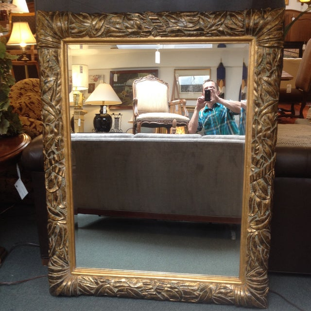 Gilded and Beveled Wall Mirror - Image 2 of 7