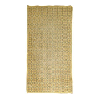 Yellow Turkish Deco Rug - 3' x 6'9''