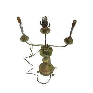3-Arm Brass Lamp