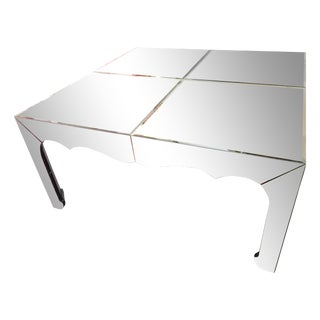 Large Gold Beveled Mirror Dining/Entryway Table