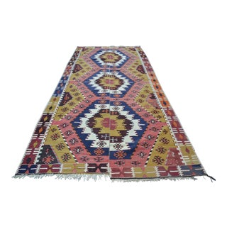 Vintage Turkish Kilim Rug - 6' X 12'7""