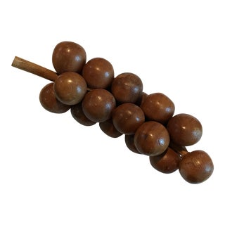 Mid-Century Wooden Bunch of Grapes