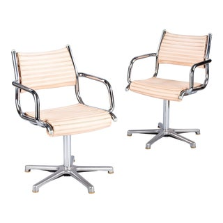 1970's Chrome Armchairs by Olymp, Germany - Pair