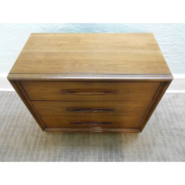 Mid Century Modern Walnut Bachelors Chests - Pair - Image 6 of 10