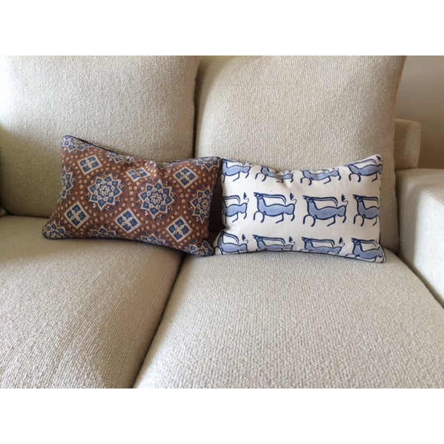 John Robshaw Lumbar Pillows - A Pair - Image 2 of 6