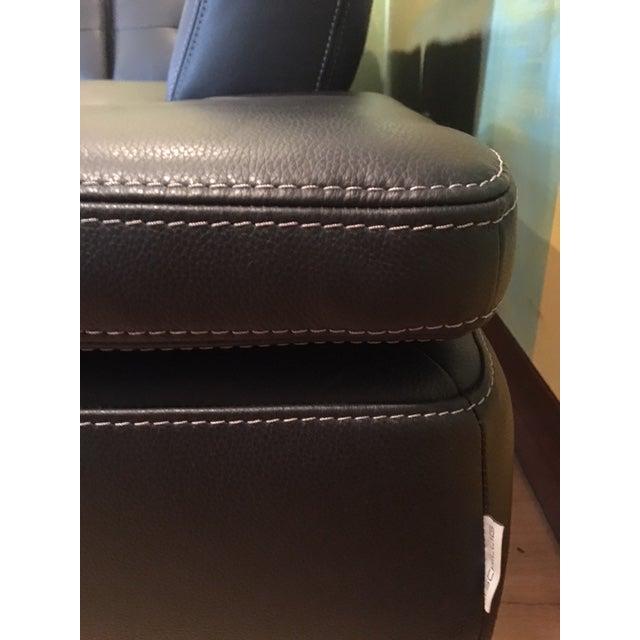 Scandinavian Design 2 Piece Black Leather Sectional Sofa - Image 3 of 6