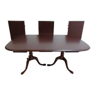 Pennsylvania House Cherry 3-Board Pedestal Dining Table