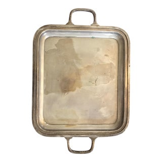 Antique Silver Plated Tray