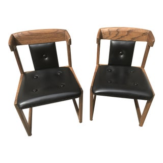 Howard Furniture Black Dining Chairs - A Pair
