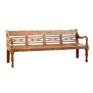 Vintage Colonial Teak Bench