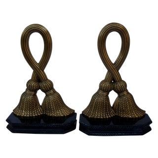 Brass Tassels Bookends - Pair