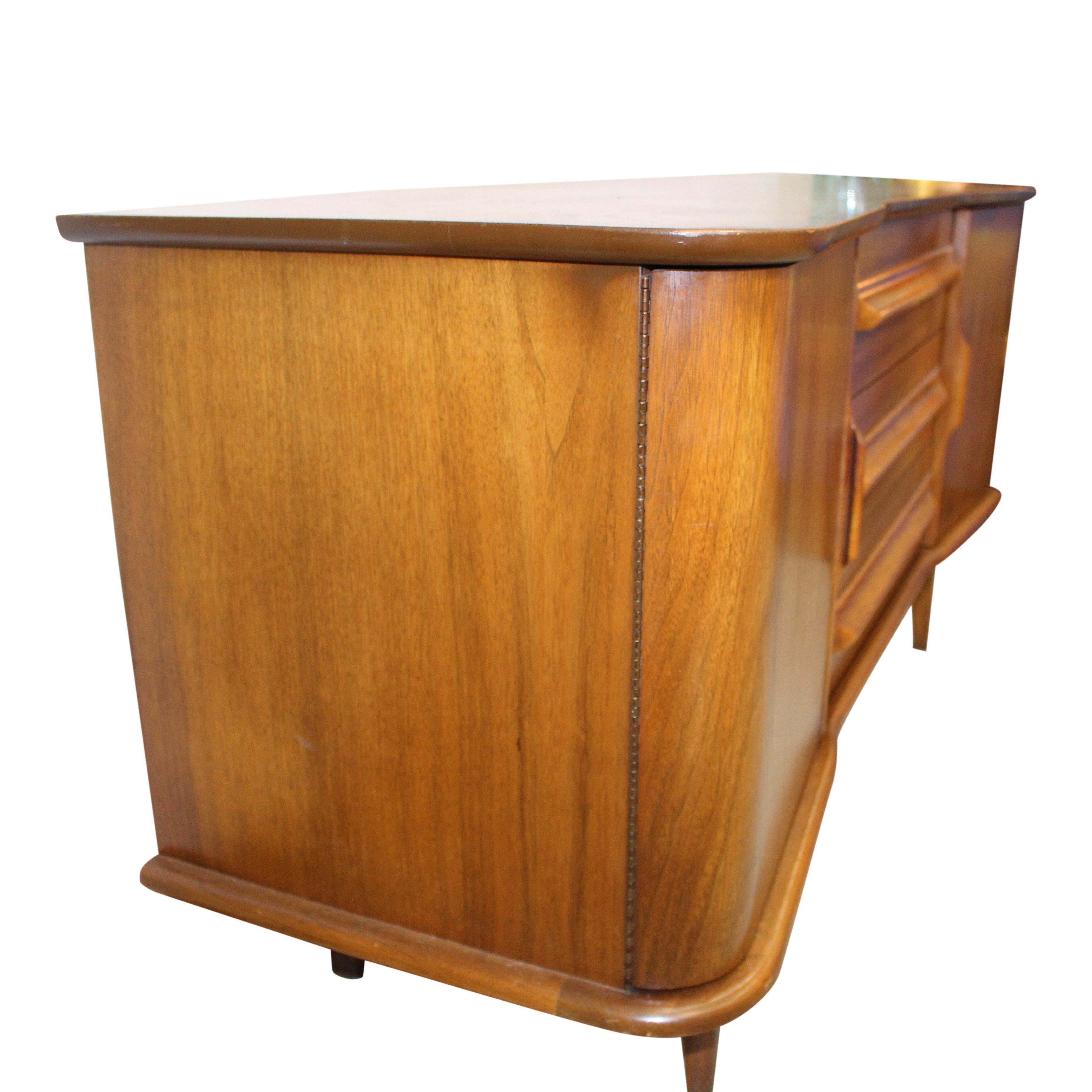 United Furniture Corporation MidCentury Ash Mahogany Credenza