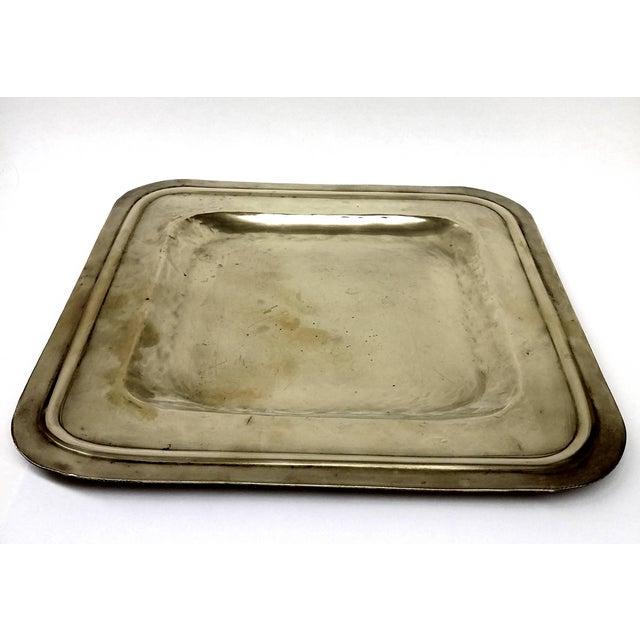 Vintage Square Brass Platter - Image 3 of 7