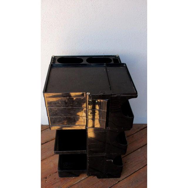 Taboret Mid-Century Modern Black Cart - Image 10 of 10