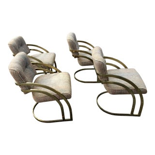 Milo Baughman Curved Cantilever Chairs - Set of 4 Mid Century Modern