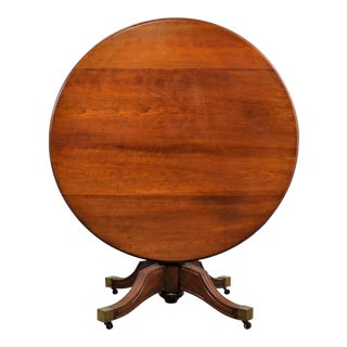Regency Carved Mahogany Round Tilt-Top Center Table
