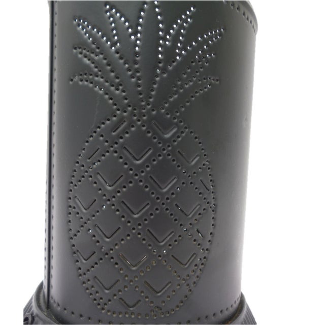 Black Steel Pineapple Table Lamp - Image 6 of 6