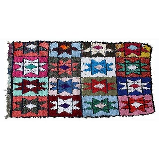 Multi-Colored Moroccan Rug - 6'2'' x 3'2''