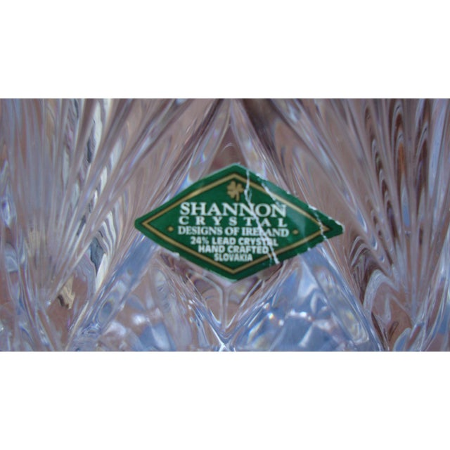 Image of Crystal Glass Goblet Candle Holders - A Pair