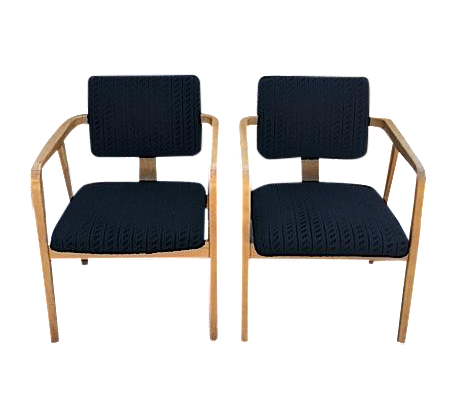 George Nelson For Herman Miller Armchairs   Pair