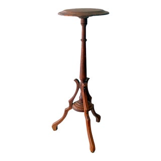 Vintage Sarreid Ltd Tri-Leg Oak Table Stand
