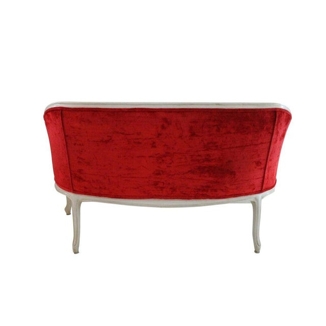 Image of French Style Red Settee