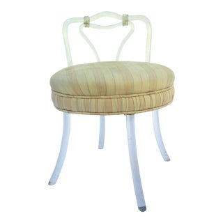 Charles Hollis Jones Lucite Vanity Chair