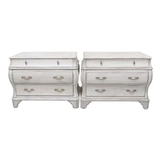 Hickory Chair Co. Distressed Painted Chests - Pair