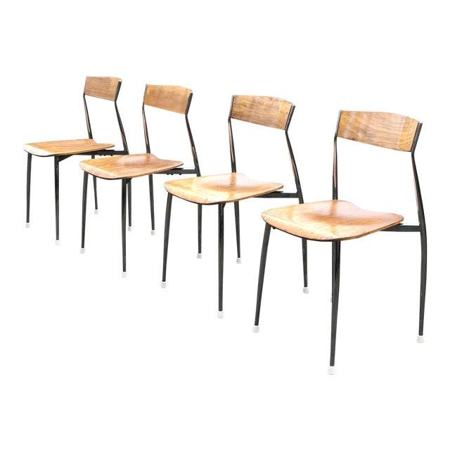 Bernhardt Mid-Century Chrome Dining Chairs - Set of 4 - Image 1 of 6