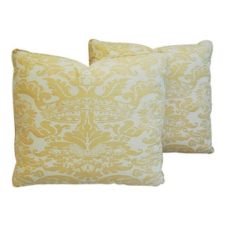 Italian Mariano Fortuny Corone Crown Pillows- A Pair
