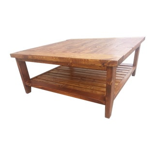 Solid Pine Hancrafted Coffee Table