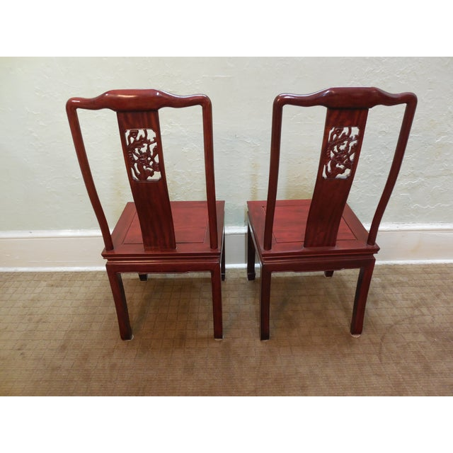 Chinese Rosewood Oriental Style Dining Chairs - 10 - Image 4 of 10