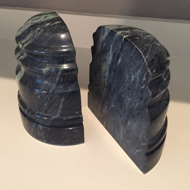 Vintage Marble Book Ends - A Pair - Image 2 of 8