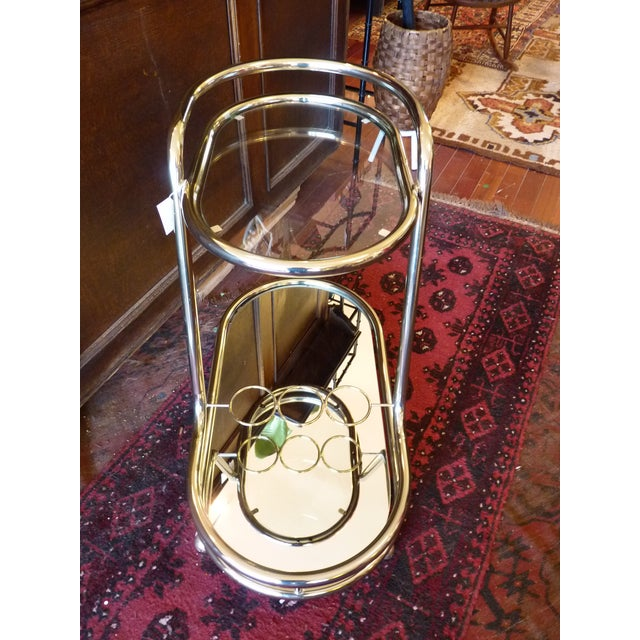 Vintage Baughman Style Bar Cart - Image 10 of 11