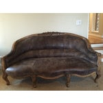 Image of Amelie Leather Sofa by Anthropologie
