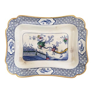 19th-C. Porcelain Platter by Norfolk Pottery Stoke
