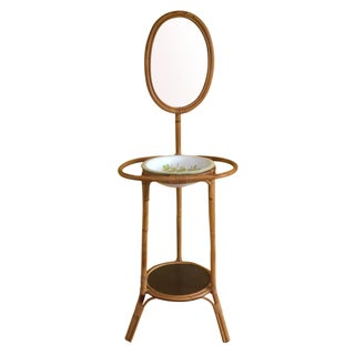 Bamboo Wash Stand & Mirror