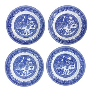 "Blue Willow Myott Meakin English 10"" Plates - Set of 4"