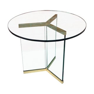Pace Brass & Glass Side Table