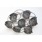 Image of Torch Cut Metal Wall Sculpture - School of Fish
