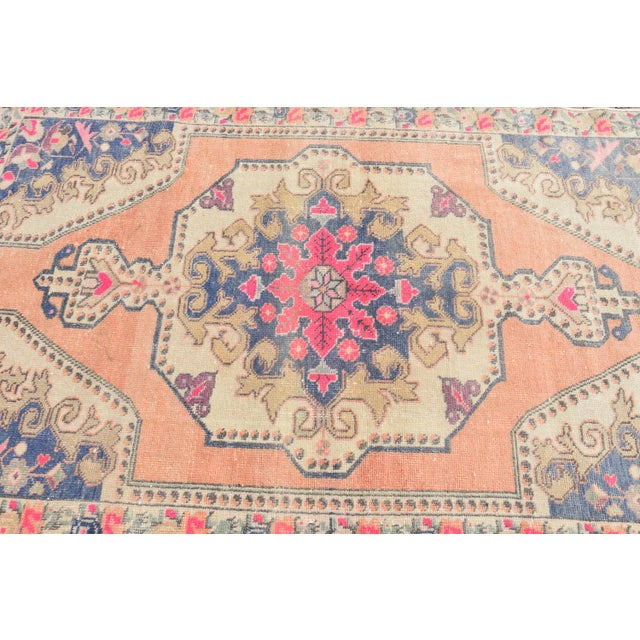 Muted Handwoven Nomadic Vintage Anatolian Oriental Rug - 4′4″ × 7′3″ - Image 5 of 6