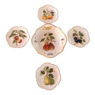 Anna Weatherly Fruit Motif China - Set of 5