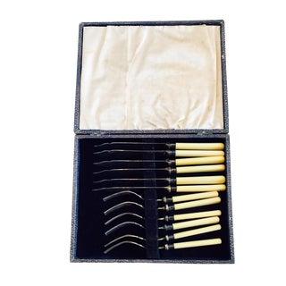 Antique Silver Fish Utensils - Set of 12