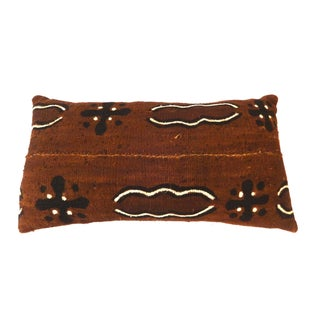 Brown African Mud Cloth Bogolan Lumbar Pillow