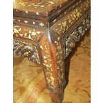 Image of Carved Wood & Mother of Pearl Mirrored Coffee Table