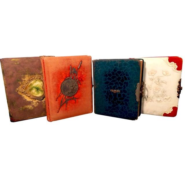 Image of Antique Nouveau Photo Albums - Set of 4