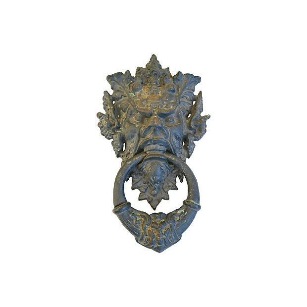 Image of Vintage Large Mythical Creature Door Knocker