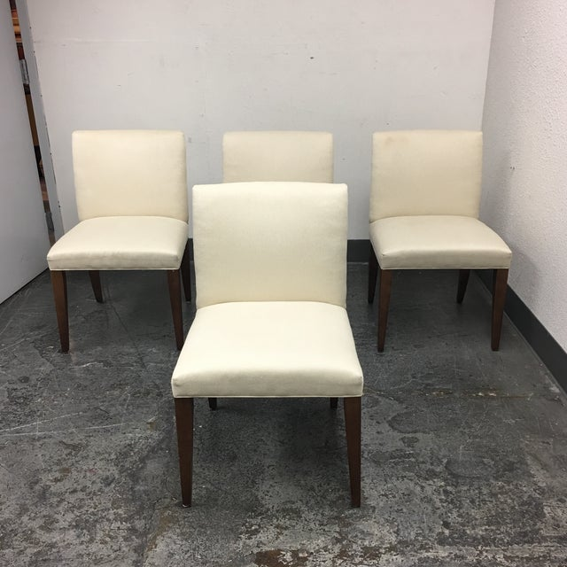 Room & Board Marie White Dining Chairs - Set of 4 - Image 2 of 8