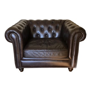 Tufted Brown Leather Chair