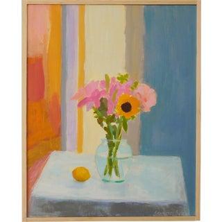 """Anne Carrozza Remick """"Bouquet With Lemon"""" Original Painting"""